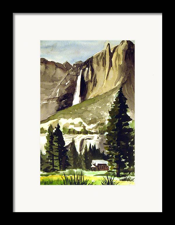 Watercolor Framed Print featuring the painting Yosemite IIi by Bill Meeker