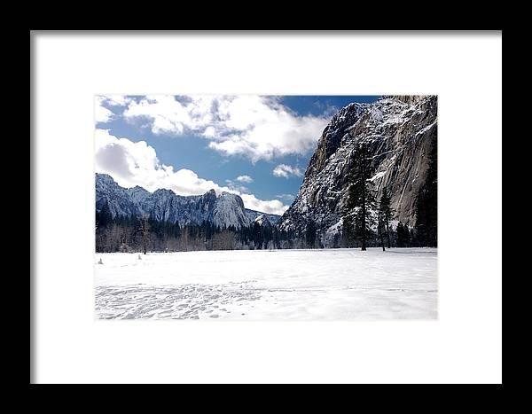 Yosemite Framed Print featuring the photograph Yosemite Meadow In Winter by Michael Courtney