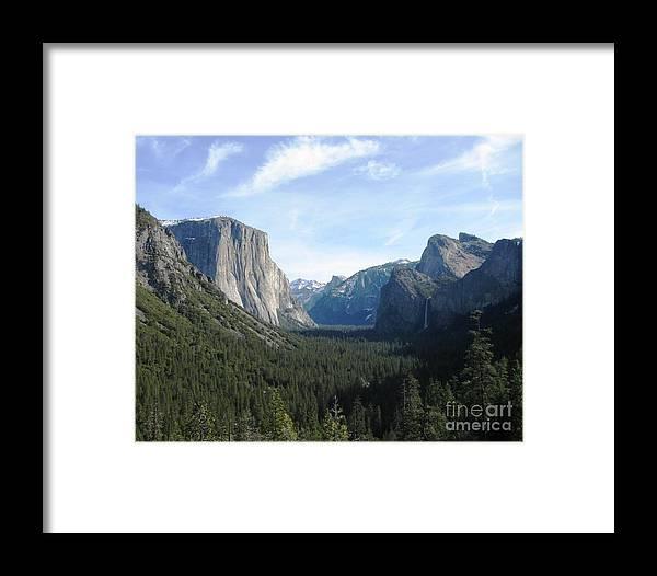 Yosemite Framed Print featuring the photograph Yosemite Valley 1 by Marta Robin Gaughen