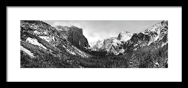 Yosemite Framed Print featuring the photograph Yosemite Valley Not Clearing Winter Storm by Larry Darnell