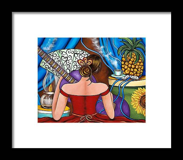 Cuba Framed Print featuring the painting You Belong To Me by Annie Maxwell