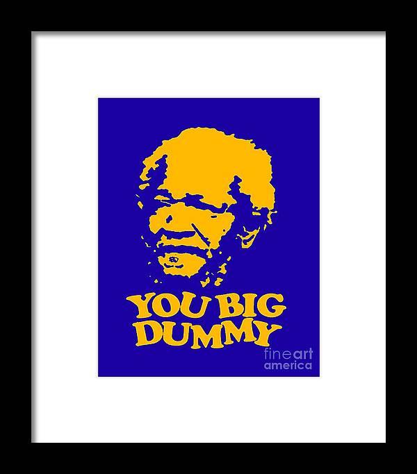 Framed Print featuring the digital art You Big Dummy by Baltzgar
