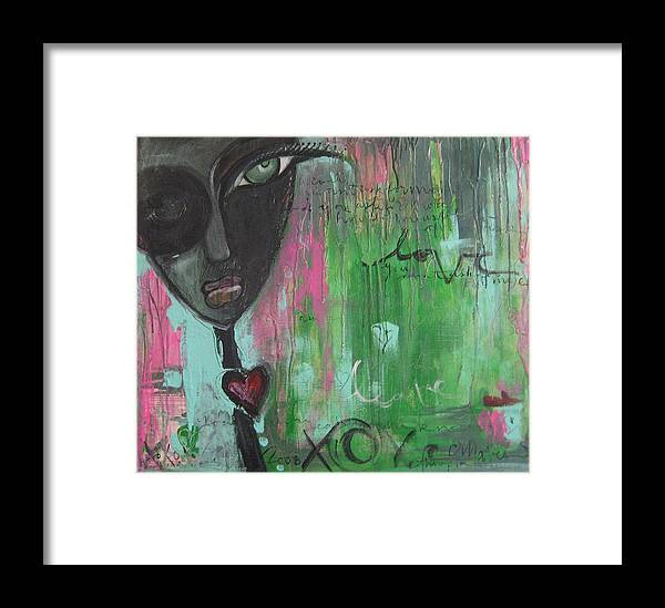 Figurative Framed Print featuring the painting You Cant Ask For More by Laurie Maves ART