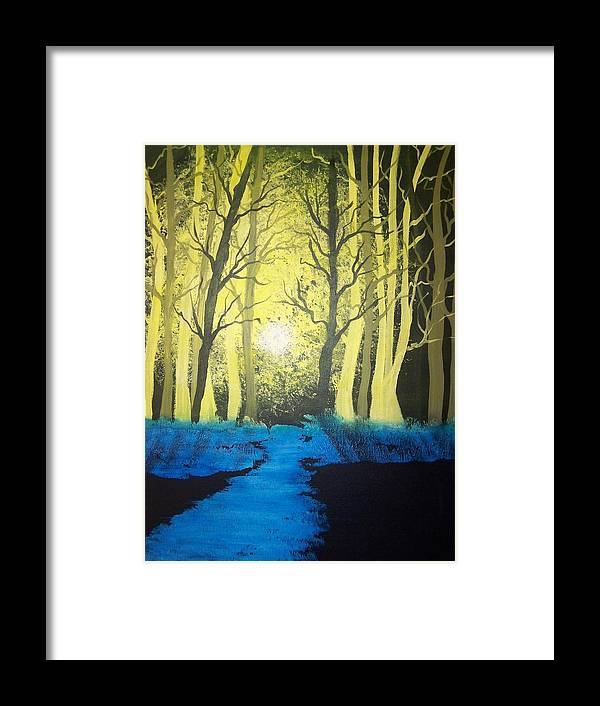 Forest Framed Print featuring the painting You Cant See The Forest For The Trees by Laurie Kidd