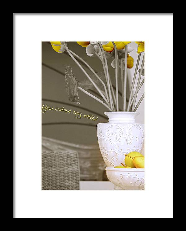 Still Life Framed Print featuring the photograph You Color My World by Holly Kempe
