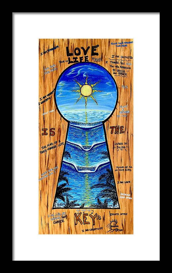 Keyholepainting Framed Print featuring the painting You Hold The Keys by Paul Carter