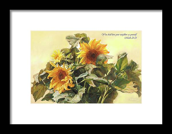 New Testament Framed Print featuring the painting You Shall Love Your Neighbor As Yourself by Svitozar Nenyuk