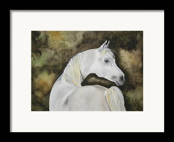 Horse Framed Print featuring the painting You Talking To Me by Jean Blackmer