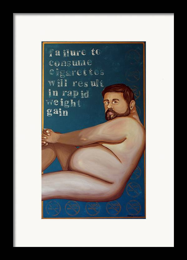 Oil Framed Print featuring the painting You'll Get Fat by Matthew Lake