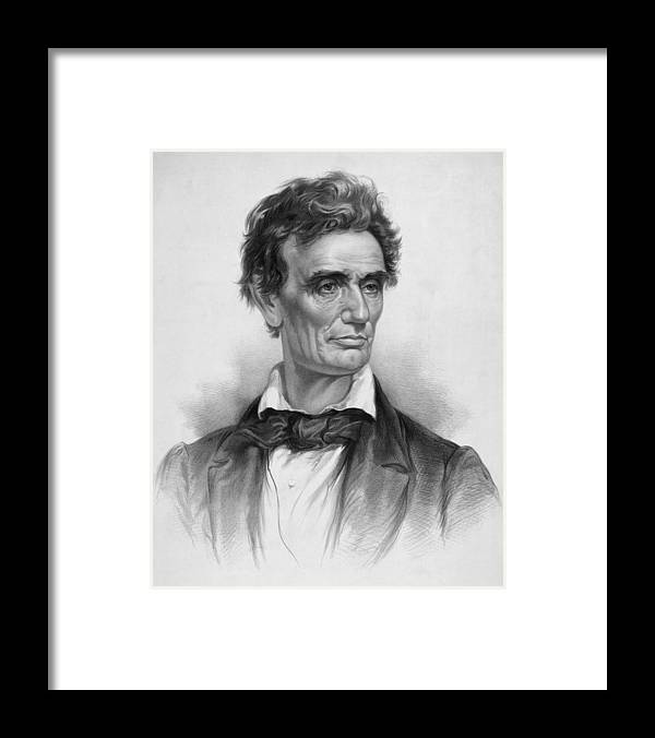 Abraham Lincoln Framed Print featuring the drawing Young Abe Lincoln by War Is Hell Store