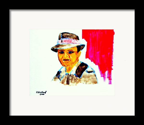 Humphrey Bogart Framed Print featuring the painting Young Bogart Private Eye by Richard W Linford
