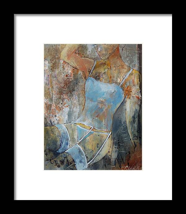 Nude Framed Print featuring the painting Young Girl 451108 by Pol Ledent