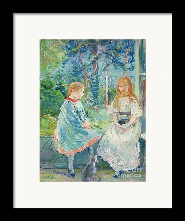 Young Framed Print featuring the painting Young Girls At The Window by Berthe Morisot