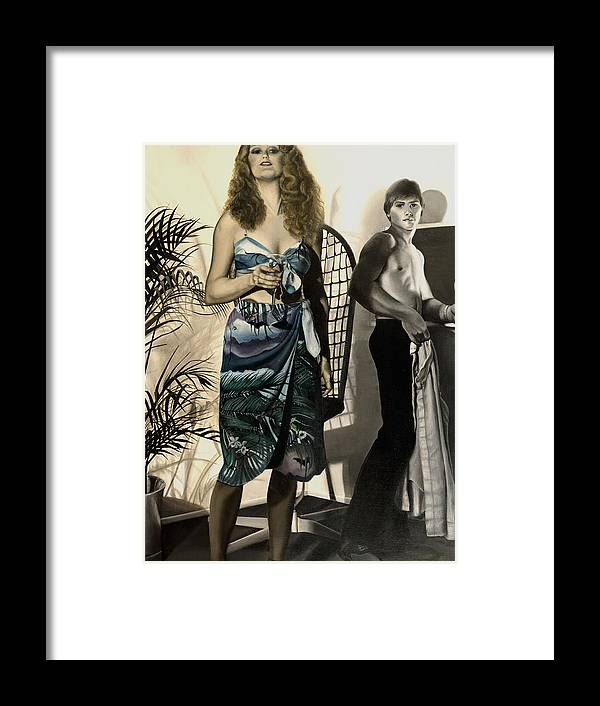 Photorealism Framed Print featuring the painting Young Love by Anni Adkins