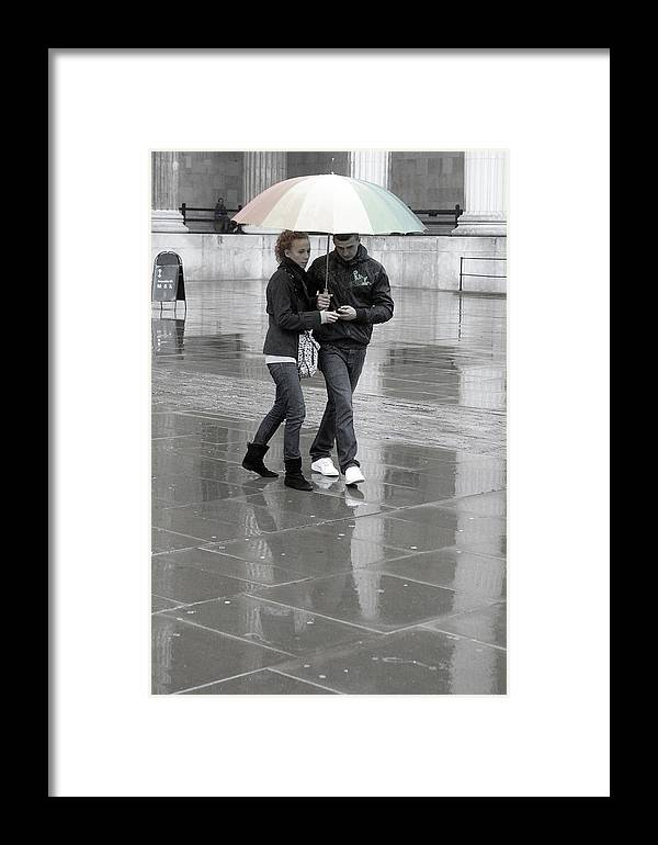 Jez C Self Framed Print featuring the photograph Young Love Under The Weather by Jez C Self