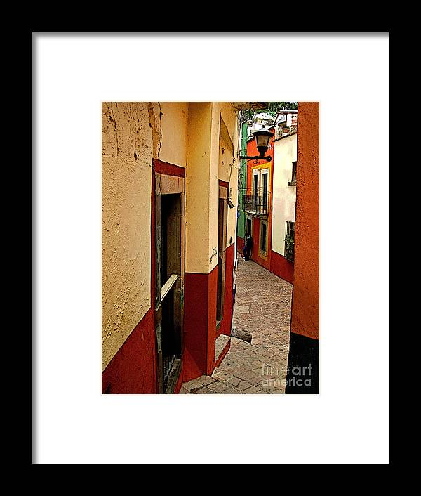 Darian Day Framed Print featuring the photograph Young Man In The Alley by Mexicolors Art Photography