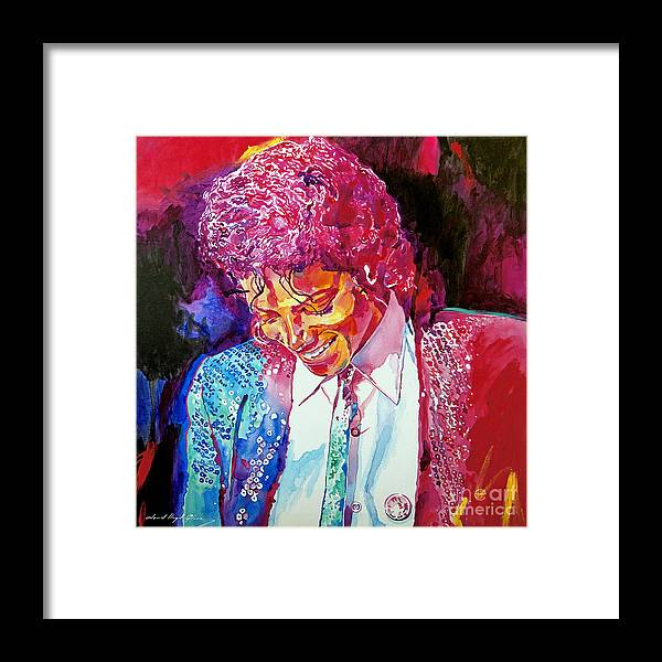Michael Jackson Framed Print featuring the painting Young Michael Jackson by David Lloyd Glover