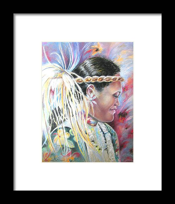 French Polynesia Framed Print featuring the painting Young Polynesian Mama by Miki De Goodaboom
