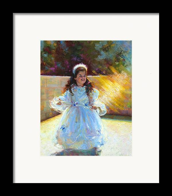 Queen Framed Print featuring the painting Young Queen Esther by Talya Johnson