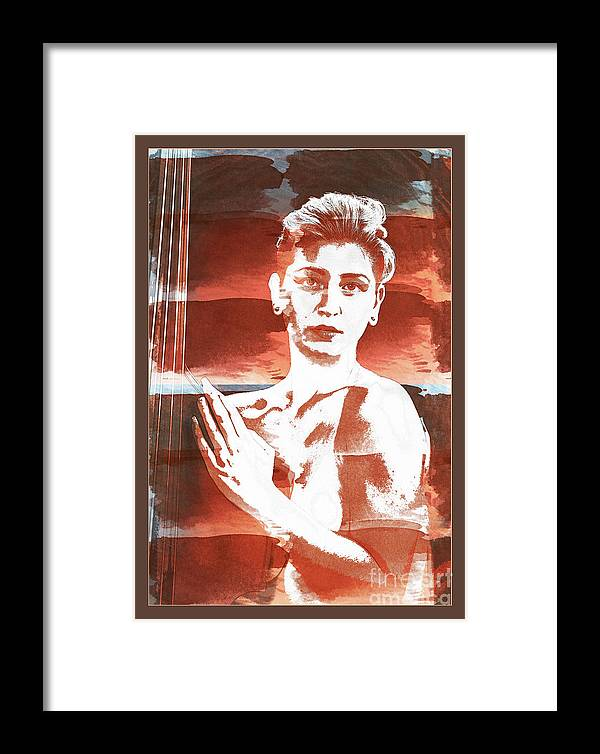 Nude Framed Print featuring the photograph Young Woman Nude 1729.197 by Kendree Miller
