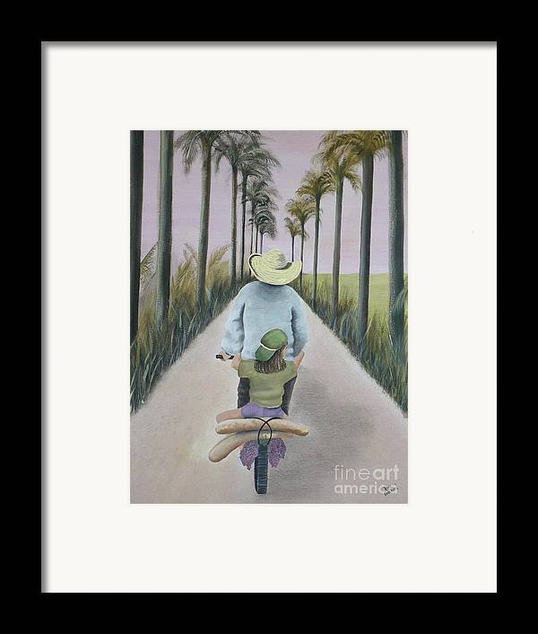 Tropical Framed Print featuring the painting You're The Best by Kris Crollard