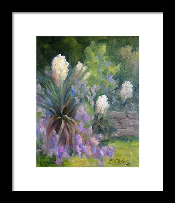 Yucca Framed Print featuring the painting Yucca And Wisteria by Bunny Oliver
