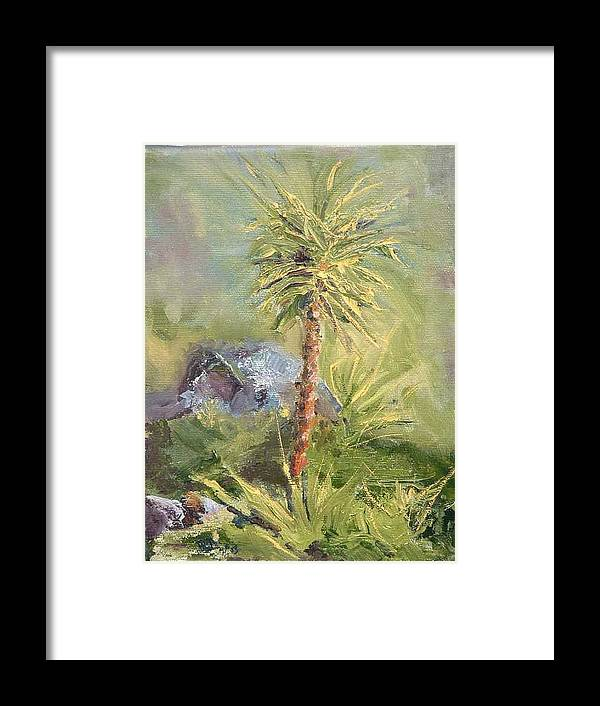 Yucca Framed Print featuring the painting Yucca by Bryan Alexander
