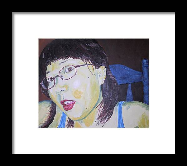 Kevin Callahan Framed Print featuring the painting Yuka by Kevin Callahan