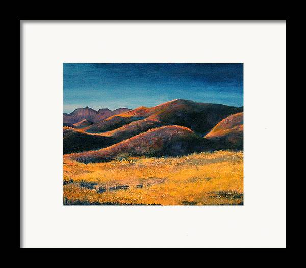 Art Nomad Framed Print featuring the painting Yuma Lady by Art Nomad Sandra Hansen