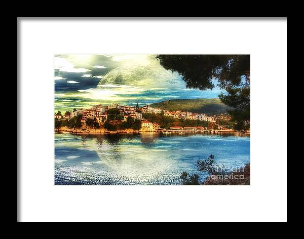 Yvonne Framed Print featuring the digital art Yvonnes World by Abbie Shores