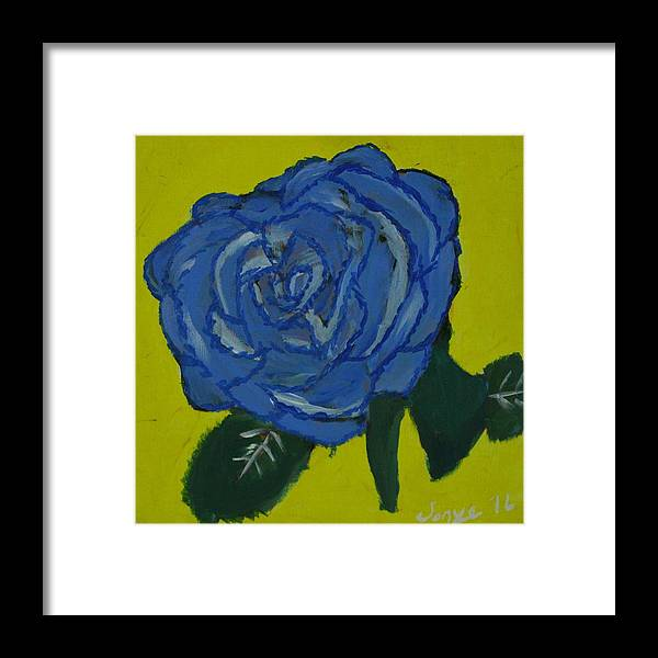 Love Framed Print featuring the painting Yvrose by Sonye Locksmith