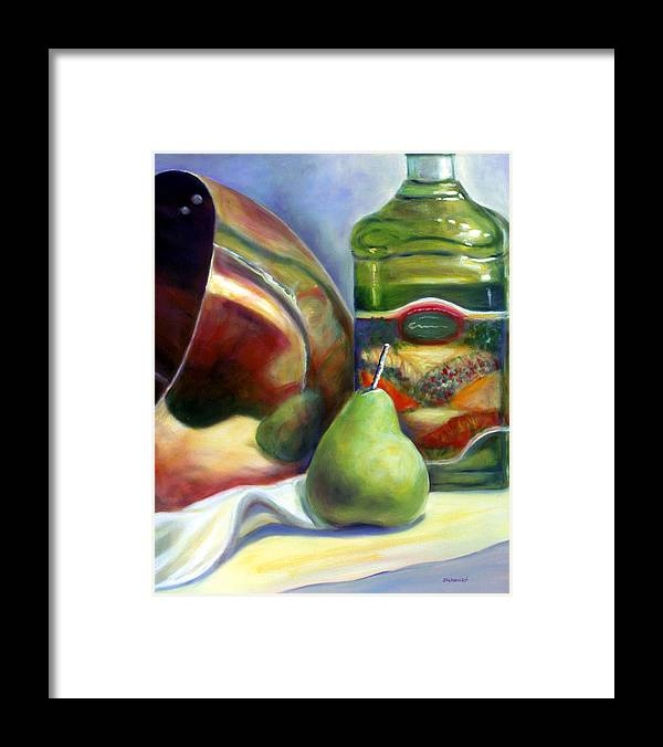 Copper Vessel Framed Print featuring the painting Zabaglione Pan by Shannon Grissom