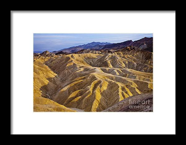 California Framed Print featuring the photograph Zabriskie Badlands by Greg Clure