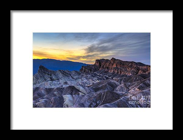 Adventure Framed Print featuring the photograph Zabriskie Point Sunset by Charles Dobbs