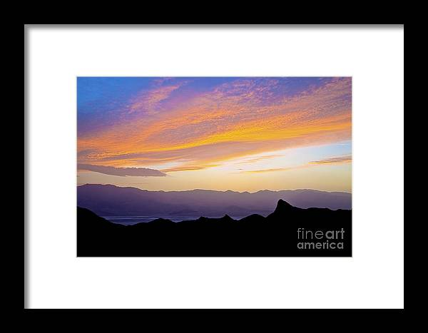 California Framed Print featuring the photograph Zabriskie Silloutte by Greg Clure