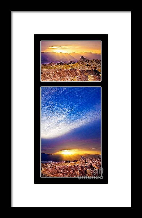 California Framed Print featuring the photograph Zabriskie Sunset Duo by Greg Clure