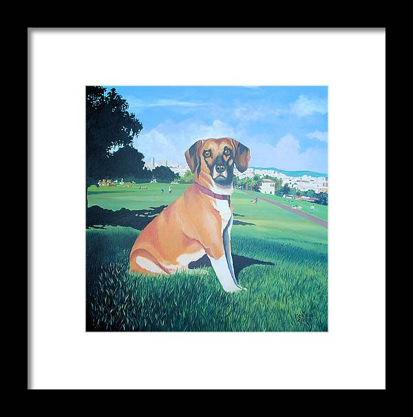 Acrylic On Canvas Framed Print featuring the painting Zachary by Vernon Farris