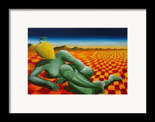 Landscape Framed Print featuring the painting Zagara by Massimiliano Stanco