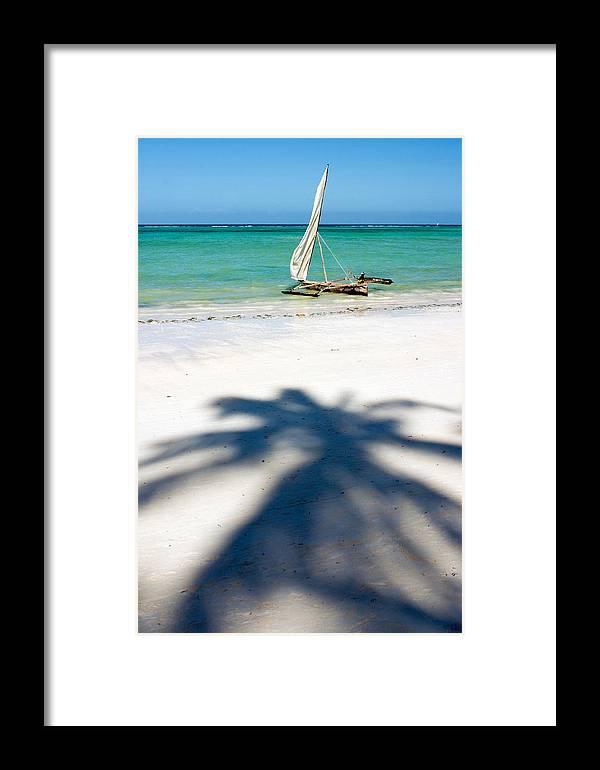 3scape Framed Print featuring the photograph Zanzibar Beach by Adam Romanowicz