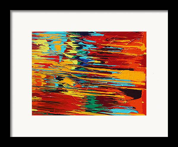 Fusionart Framed Print featuring the painting Zap by Ralph White