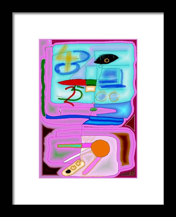 Zapp Framed Print featuring the digital art Zapp by Helmut Rottler