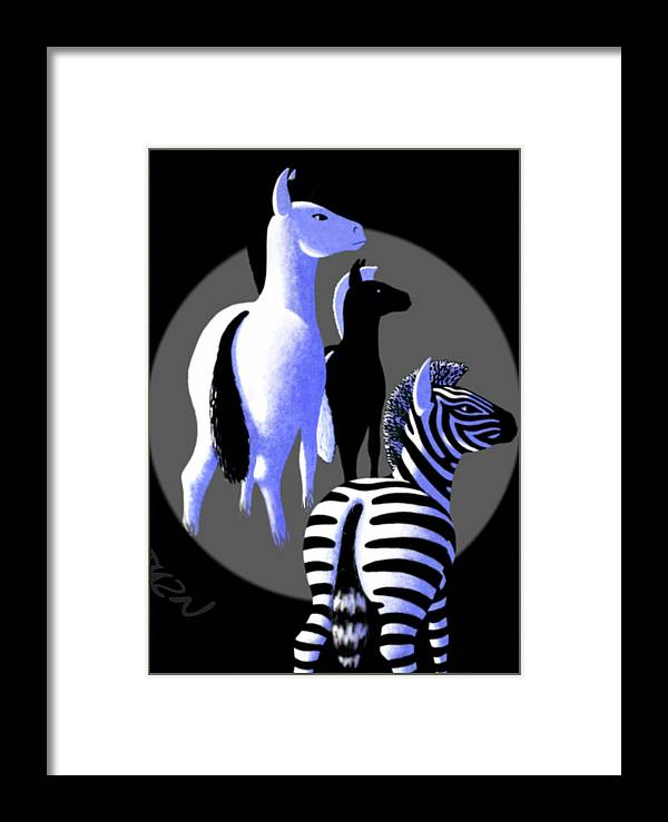 Dkzn Framed Print featuring the digital art Zebredee by Tom Dickson