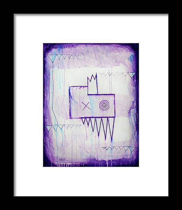 Zeeko Amethyst - Purple And White Abstract Painting Framed Print by ...