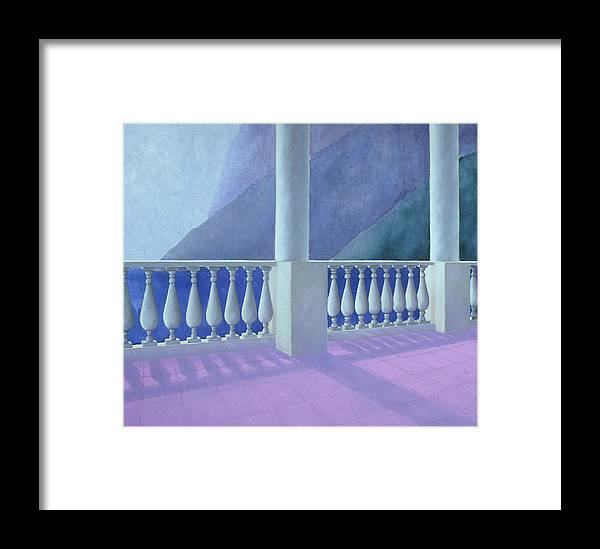 Balcony Framed Print featuring the painting Zeffirelli Pink by Gloria Cigolini-DePietro