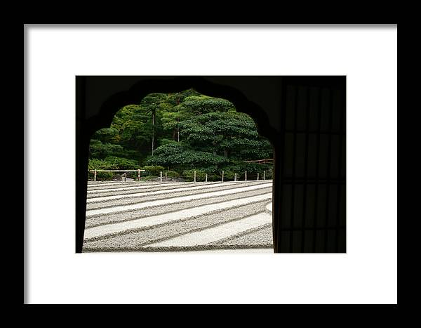 Japan Framed Print featuring the photograph Zen Lines by Jessica Rose