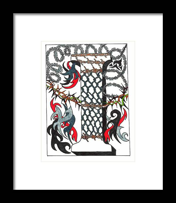 Zentangle Framed Print featuring the drawing Zentangle Inspired I #1 by Eric Strickland