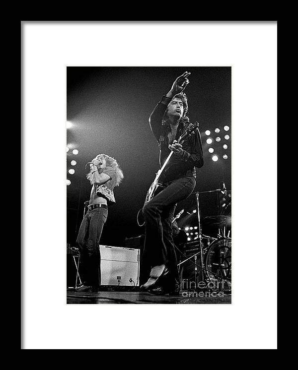 Robert Plant Framed Print featuring the photograph Zeppelin Rocks by Pd