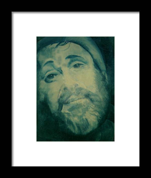 Pastels Framed Print featuring the painting Zero Mostel by Winifred Ann Weishampel