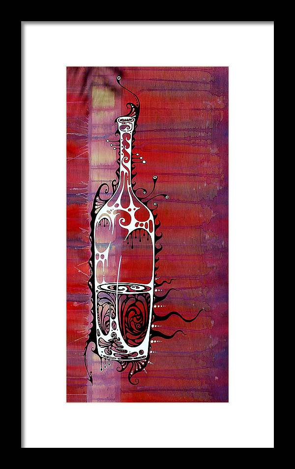 Wine Framed Print featuring the painting Zinfandel by John Benko
