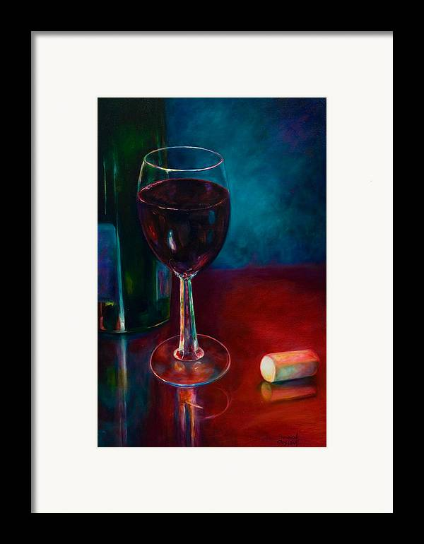 Wine Bottle Framed Print featuring the painting Zinfandel by Shannon Grissom